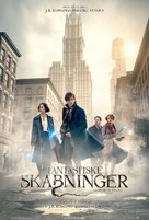 Fantastic Beasts and Where to Find Them - Danish Movie Poster (xs thumbnail)