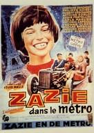 Zazie dans le métro - Belgian Movie Poster (xs thumbnail)