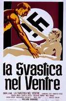 La svastica nel ventre - Italian Movie Poster (xs thumbnail)