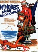 Mr. Hobbs Takes a Vacation - French Movie Poster (xs thumbnail)