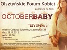 October Baby - Polish Movie Poster (xs thumbnail)