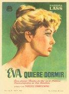 Ewa chce spac - Spanish Movie Poster (xs thumbnail)