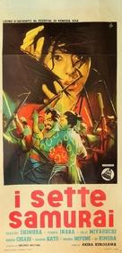 Shichinin no samurai - Italian Movie Poster (xs thumbnail)