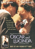 Oscar and Lucinda - British Video release movie poster (xs thumbnail)