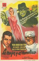 The Lady and the Monster - Spanish Movie Poster (xs thumbnail)