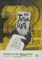 The List of Adrian Messenger - German Movie Poster (xs thumbnail)