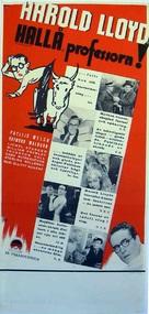 Professor Beware - Swedish Movie Poster (xs thumbnail)
