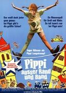 På rymmen med Pippi Långstrump - German Movie Poster (xs thumbnail)