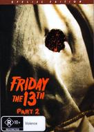 Friday the 13th Part 2 - Australian DVD movie cover (xs thumbnail)