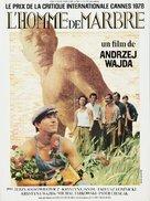 Czlowiek z marmuru - French Movie Poster (xs thumbnail)