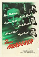 Dear Murderer - British Movie Poster (xs thumbnail)