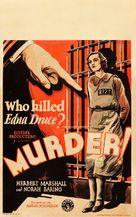 Murder! - Movie Poster (xs thumbnail)