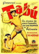 Tabu - Spanish Movie Poster (xs thumbnail)