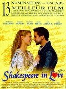 Shakespeare In Love - French Movie Poster (xs thumbnail)
