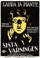 The Last Warning - Swedish Movie Poster (xs thumbnail)