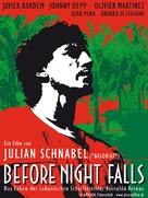 Before Night Falls - German Movie Poster (xs thumbnail)