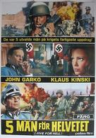 5 per l'inferno - Swedish Movie Poster (xs thumbnail)