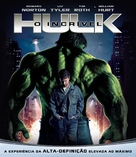 The Incredible Hulk - Brazilian Blu-Ray cover (xs thumbnail)