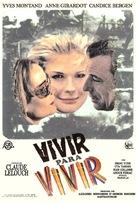 Vivre pour vivre - Spanish Movie Poster (xs thumbnail)