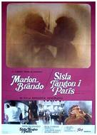 Ultimo tango a Parigi - Swedish Movie Poster (xs thumbnail)
