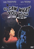 I Saw What You Did - DVD cover (xs thumbnail)