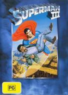 Superman III - Australian DVD movie cover (xs thumbnail)