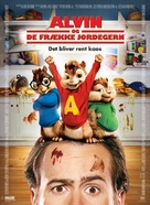 Alvin and the Chipmunks - Danish Movie Poster (xs thumbnail)