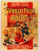 Trois vieilles filles en folie - French Movie Poster (xs thumbnail)