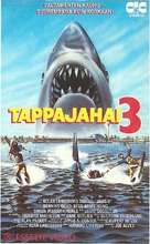 Jaws 3D - Finnish VHS movie cover (xs thumbnail)