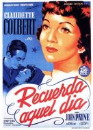 Remember the Day - Spanish Movie Poster (xs thumbnail)