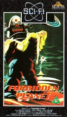 Forbidden Planet - British VHS cover (xs thumbnail)