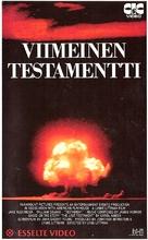 Testament - Finnish VHS movie cover (xs thumbnail)