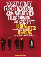 Burn After Reading - German Movie Poster (xs thumbnail)