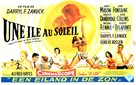 Island in the Sun - Belgian Movie Poster (xs thumbnail)