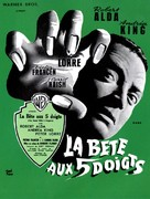 The Beast with Five Fingers - French Movie Poster (xs thumbnail)