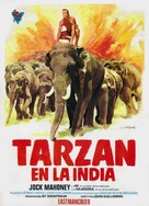 Tarzan Goes to India - Spanish Movie Poster (xs thumbnail)