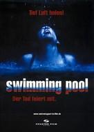 Swimming Pool - Der Tod feiert mit - German Movie Poster (xs thumbnail)