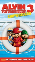 Alvin and the Chipmunks: Chipwrecked - Australian Movie Poster (xs thumbnail)