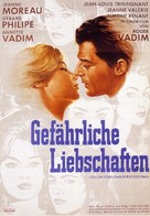 Les liaisons dangereuses - German Movie Poster (xs thumbnail)