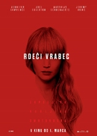 Red Sparrow - Slovenian Movie Poster (xs thumbnail)
