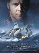 Master and Commander: The Far Side of the World - Danish Movie Poster (xs thumbnail)