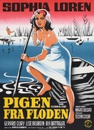 La donna del fiume - Danish Movie Poster (xs thumbnail)