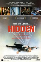 The Hidden - Spanish Movie Poster (xs thumbnail)
