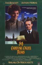 84 Charing Cross Road - Video release movie poster (xs thumbnail)