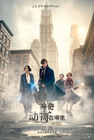 Fantastic Beasts and Where to Find Them - Taiwanese Movie Poster (xs thumbnail)