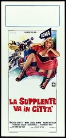 La supplente va in città - Italian Movie Poster (xs thumbnail)