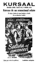 Morning Departure - Spanish Movie Poster (xs thumbnail)