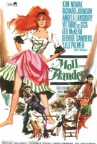 The Amorous Adventures of Moll Flanders - Spanish Movie Poster (xs thumbnail)