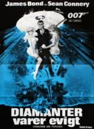Diamonds Are Forever - Danish Movie Poster (xs thumbnail)