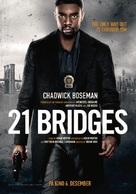 21 Bridges - Norwegian Movie Poster (xs thumbnail)